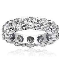 1.38 Carat G-H Diamond Full Eternity Wedding Engagement Band Ring 14K Wh... - $782.13