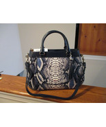 Authentic Brahmin Raelynn Ballington Snake Pyrthon Embossed Leather Satchel NWT - $247.49