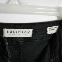 Bullhead Denim Black Super Hi-Rise Shorty Shorts Size 5 image 2