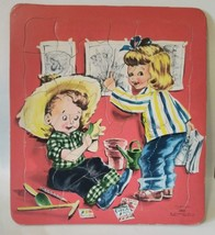 VINTAGE SAALFIELD PUBLISHING CO #7010 25 PIECE CHILDRENS SAWYER PUZZLE - $9.90