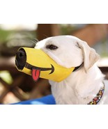 HAPPY Funny Smile Dog Muzzle * Size 1 - 5 * FREE SHIPPING - $13.33+