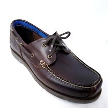 Timberland Mens Boat Shoes Sz 9.5 Dark Brown Leather Piper Cove Full Gra... - $53.99