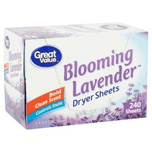 Great Value Ultimate Fresh Dryer Sheets, Blooming Lavender, 240 Count | ... - $16.37