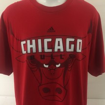 Adidas Chicago Bulls Mens Graphic T Shirt 2XL Red Basketball Horns 100% ... - €22,18 EUR