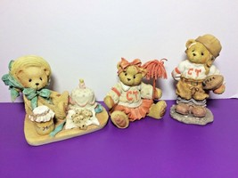 Anna Debbie Cheerleader Butch Football Player Cherished Teddies LOT Retired - $14.95