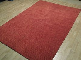 5' x 7' Shades of Red Soft Modern Red Gabbeh Wool Hand-Knotted Rug image 5