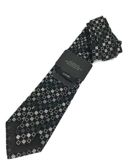 "New ALFANI Men's Silk Neck Tie Black Designer 58"""