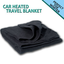 Zone Tech Car Heated Polar Fleece Electric 12V Portable Warm Travel Blanket - $32.99