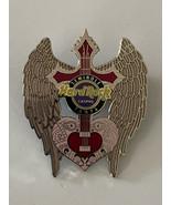 Hard Rock Cafe HRC Tampa Seminole Cross Heart Pink Wings Guitar Pin Limi... - $18.95