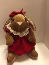 "Toy's r Us Velveteen Plush Bunny Vintage 1985 Commonwealth Toy Charming 12"" - $9.49"