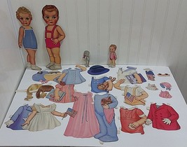 1943 Vtg Sleeping Paper Doll Set Queen Holden WINKIE BLINKIE Whitman #97... - $19.83