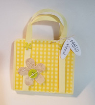 Purse,sticky note holder,post it note holder, note holder, yellow, gift,... - $1.89