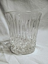 set of 8 FOSTORIA Glass Clear Crystal BENNINGTON dof ROCK glasses  - $38.99