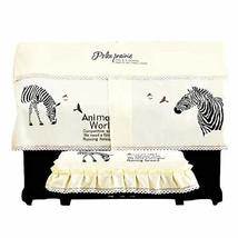 Piano Cover Dust Cover Zebra Pattern Piano Chair Cover Piano Stool Dustproof