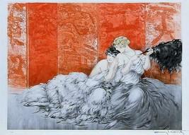Erotica Lesbian lovers happy  Louis ICart Art Deco 5 x 7 photo print - $1.98