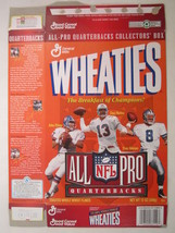Empty Wheaties Box 1996 12oz All Pro Quarterbacks Elway Marino Aikman [Z202c2] - $6.38