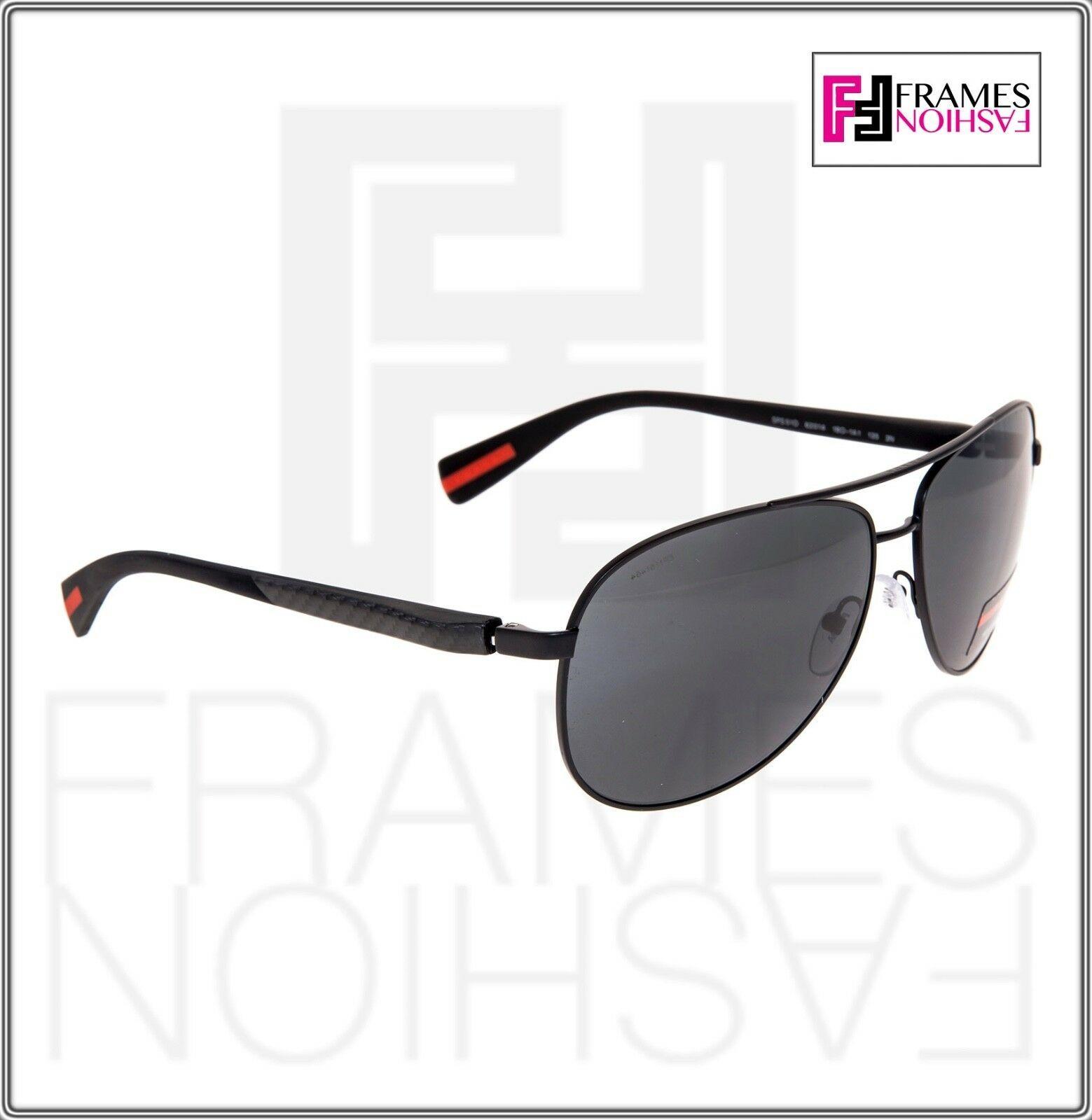 PRADA LINEA ROSSA NETEX PS51OS Black Aviator Sport Sunglasses SPS 51O Men image 5