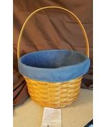 Longaberger 1996 LARGE FRUIT APPLE BASKET #13200 With Blue Fabric Liner - $39.95