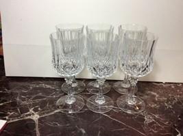 Set Of 6 Crystal Wine Goblets - $12.87