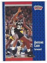 NBA 1991-92 (SPURS) Fleer #353 Antoine Carr Basketball Card MINT - $0.99