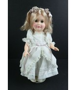 """Vintage 1980 Effanbee Doll 2480 12"""" White & Lavender Lace Dress w/ Stand - $33.63"""