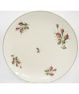 "Rosenthal Aida Large 13"" Round Platter Rosebuds Thorny Stems Gilded Edge... - $37.61"