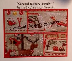Cardinal Mystery Sampler Part 2 Christmas Presents cross stitch chart Mani di Do - $7.20