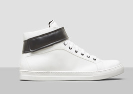$160.00 kenneth Cole DOUBLE POINT II HIGH-TOP SNEAKER - WHITE, Size 8.5 - $78.21