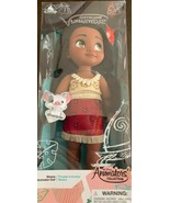 """Disney Store Animators' Collection Moana Doll with Pua 16"""" Toy NEW Gift - $49.49"""