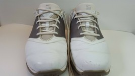 Nike Air Mens Size 8.5W White Leather Soft Spike Golf Shoes  - $15.56