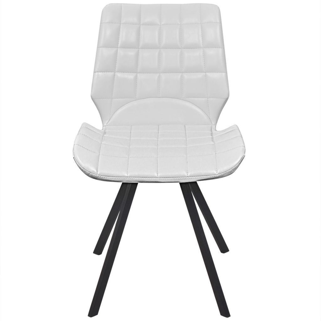 vidaXL Set of 4 Dining Office Living Room Kitchen Chair Artificial Leather White image 3