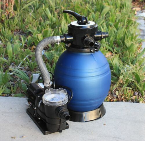 "Primary image for Above Ground Swimming Pool 12"" Sand Filter with 110V Water Pump for Intex"