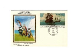 "POSTCARD-""ARK & DOVE-MARYLAND 1634""-COLORANO ""SILK"" CACHET-FIRST DAY ISS... - $3.43"