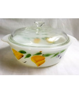 Anchor Hocking Fire-King Casserole Serving Bowl with Lid 2Qt White - $32.95
