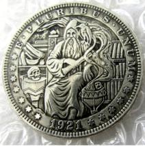 US Hobo Nickel 1921 Morgan Dollar In Wizard Creative Casted Coins - $9.49