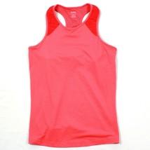 Reebok PlayDRY Yoga Tank Top Coral Peach Womens Racerback Sports Bra Siz... - $13.08