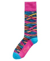 Alfani Spectrum Stained Glass Crew Casual Socks Turquoise Shoe Size 7-12 New - $5.93