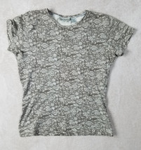 Ann Taylor Womens Top Size Medium Cap Sleeve Taupe Stretch - $8.32