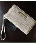STEVE MADDEN WALLET Bisque Stamped Logo Zip Around Organizer Wristlet Fr... - $37.99