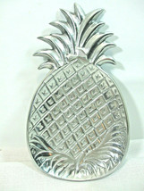 "IHI Pineapple Fruit Shaped Pewter Serving Tray Dish Made In India 11"" x ... - $19.75"