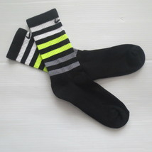 Nike Youth Performance Crew Socks - SX5815 - Black - Size M - NEW - $6.99