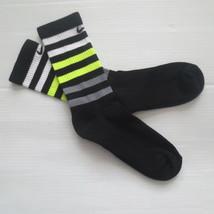 Nike Youth Performance Crew Socks - SX5815 - Black - Size M - NEW - $6.99