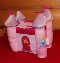Disney 4 Special Princesses in Towers Pink Soft Plush Castle Bank - $8.79