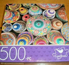 Jigsaw Puzzle 500 Pieces Painted Pottery Jars Colorful Art Collage 1 Pc ... - $10.88