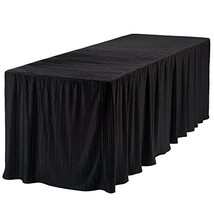 8 Foot Folding Table Cloth Black 30x96x29 - $39.23