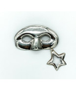 Vintage Taxco Sterling Silver Theatre Masquerade Ball Mask Pin Brooch - $155.69