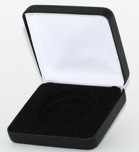 "(1) Black Leatherette Model ""I"" Air-Tite Single Coin Holder Display Box Case - $7.95"