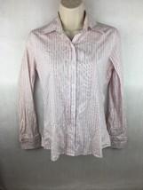 Banana Republic Women's Pink & White Striped Dress Shirt Size XS - $14.84