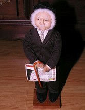 Vtg Soft Sculpture Figurine Collectible Dapper Old Man Cane Sr Eleanor 1... - $37.59
