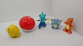Pokemon Burger King McDonalds figure lot Pikachu  top yo-yo catching pokeball - $13.36